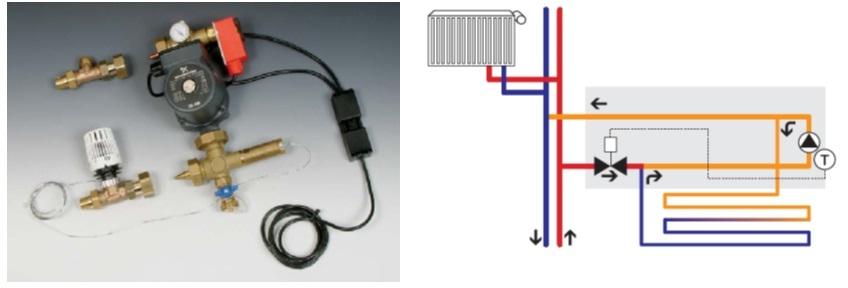 """Kitul de amestec 1"""" pentru montare in stanga sau in dreapta distribuitorului"""