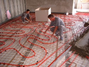 fazele montajului sistem de incallzire a suprafetelor