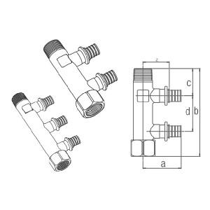 Distribuitor, racord cu manșon alunecător, R/Rp 3/4˝ RAUTITAN RX